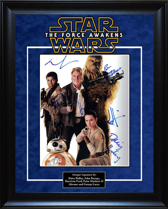 """Star Wars: Force Awakens"" - Cast Signed 8x10 Photo"