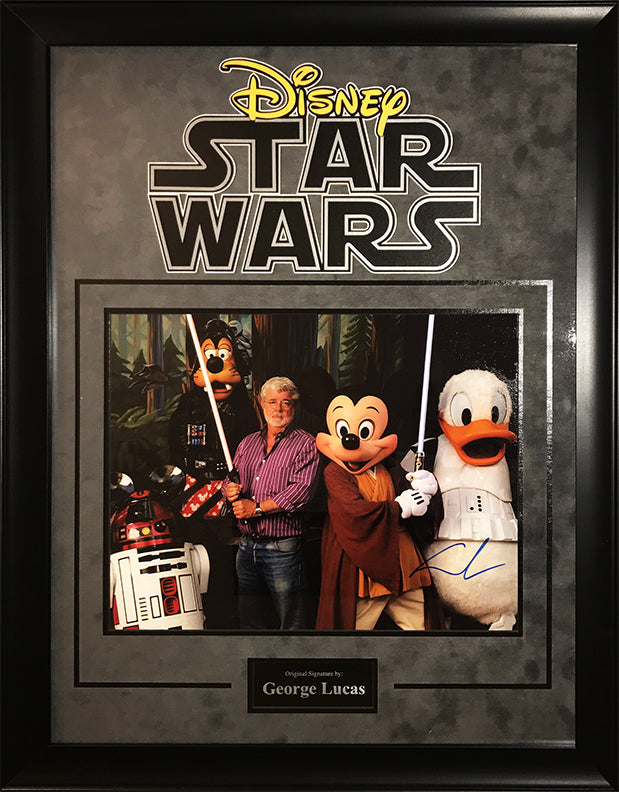 """Star Wars/Disney"" George Lucas signed 11x14"