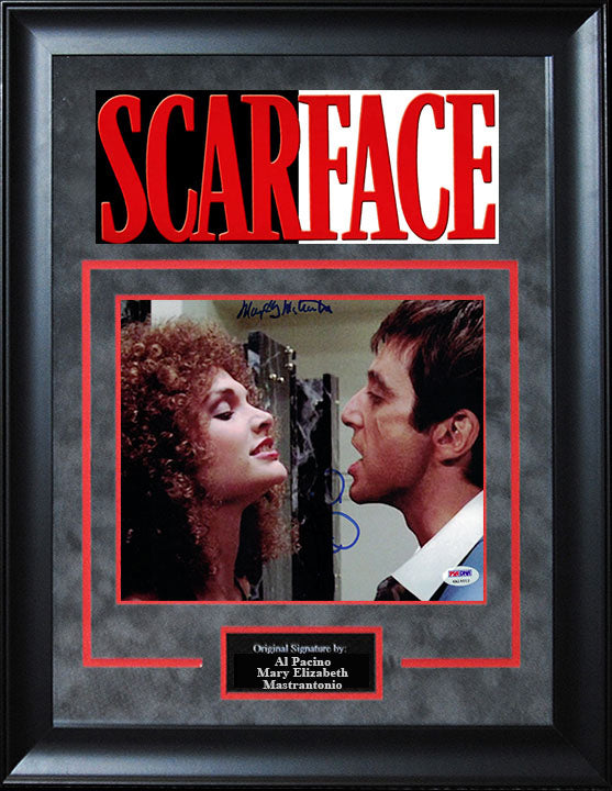 """Scarface"" - Al Pacino and Mary Elizabeth Mastrantonio Signed 8x10 Photo"