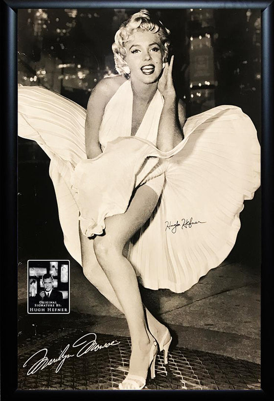 """The Seven Year Itch"" Marilyn Monroe Poster signed by Hugh Hefner"