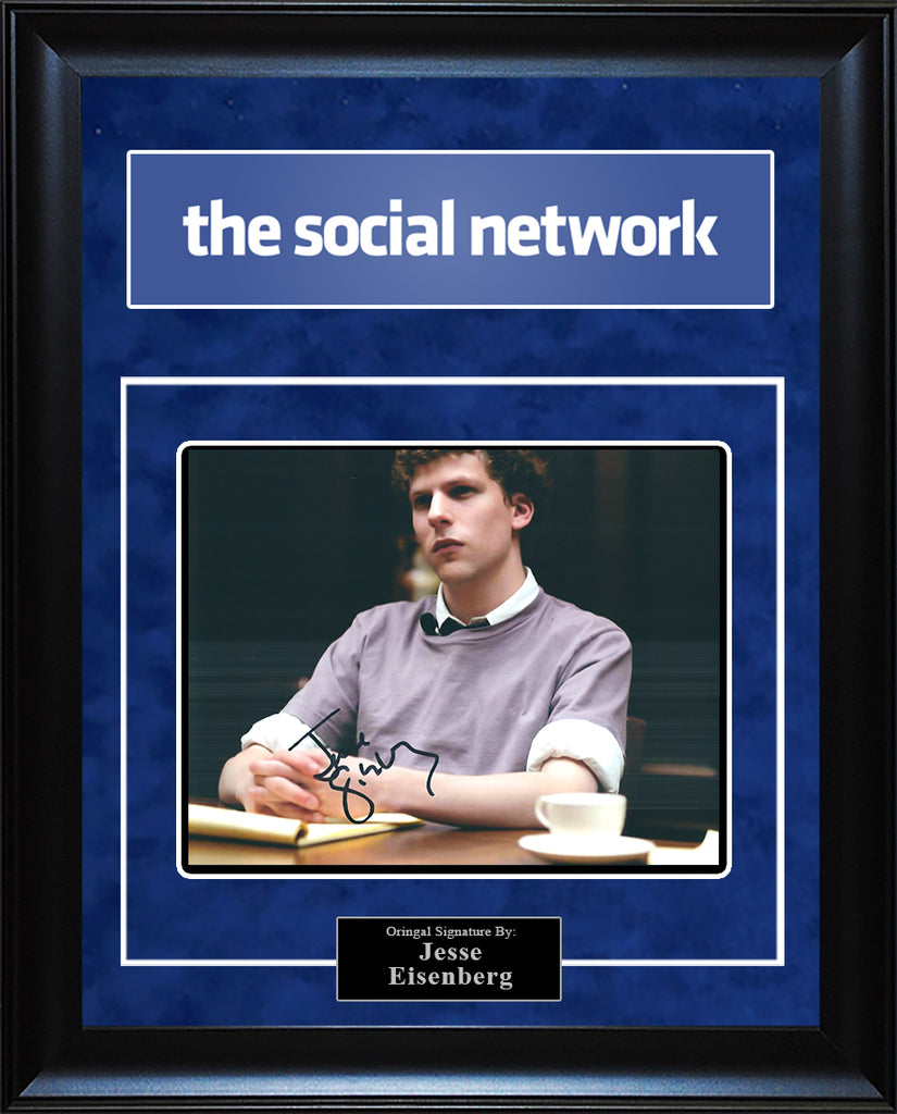 """The Social Network"" - Jesse Eisenberg Signed 8x10 Photo"