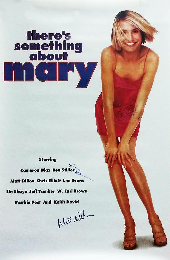 """There's Something About Mary"" - Cast Signed Movie Poster (Unframed)"