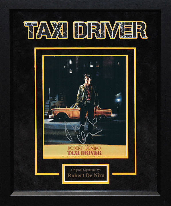 """Taxi Driver"" - Robert DeNiro Signed 8x10 Photo (Option 1)"