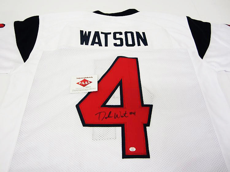 """Houston Texans"" Deshaun Watson signed jersey (unframed)"