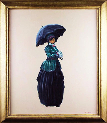Tom Perkinson - ORIGINAL 'Elegant Woman with Umbrella'