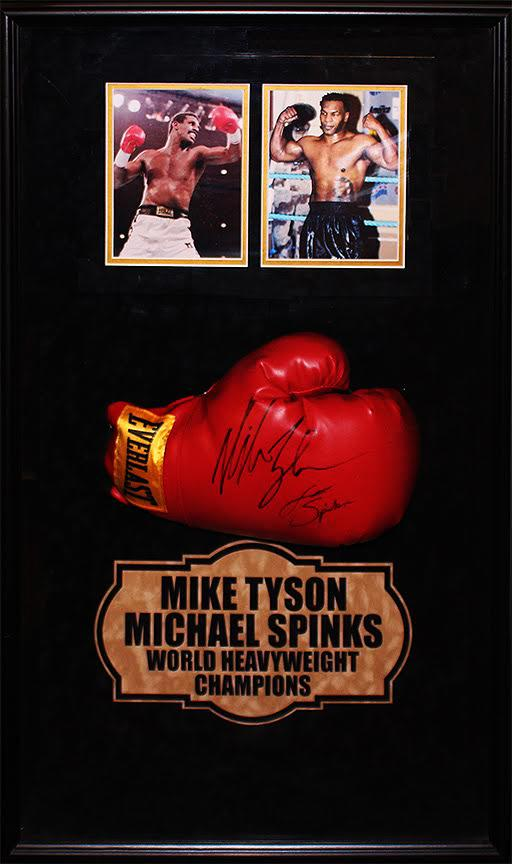 Mike Tyson vs. Michael Spinks Signed Boxing Glove