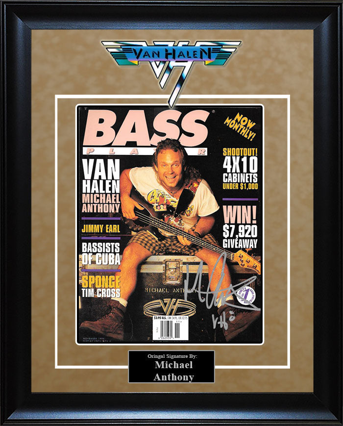 """Van Halen"" - Michael Anthony Signed ""Bass Player"" Magazine"