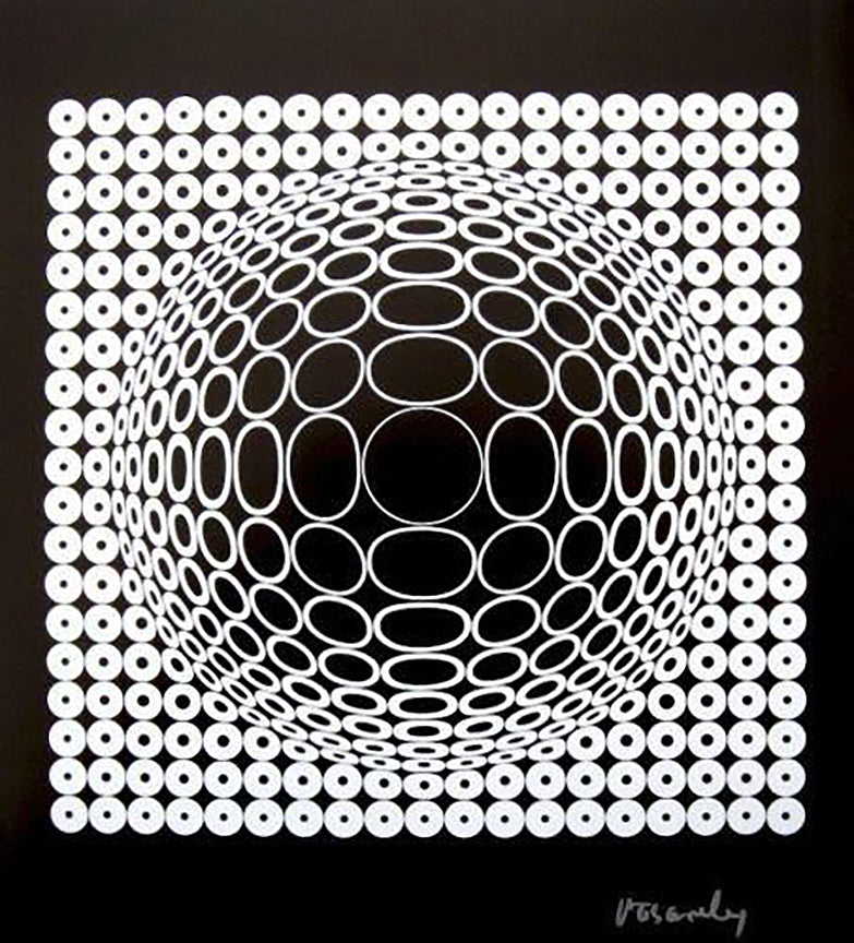 Victor Vasarely - 'Untitled' SIGNED