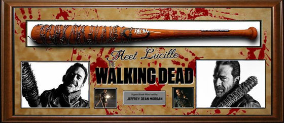 """The Walking Dead"" Signed ""Lucille"" Barbed-Wire Baseball Bat!!!"