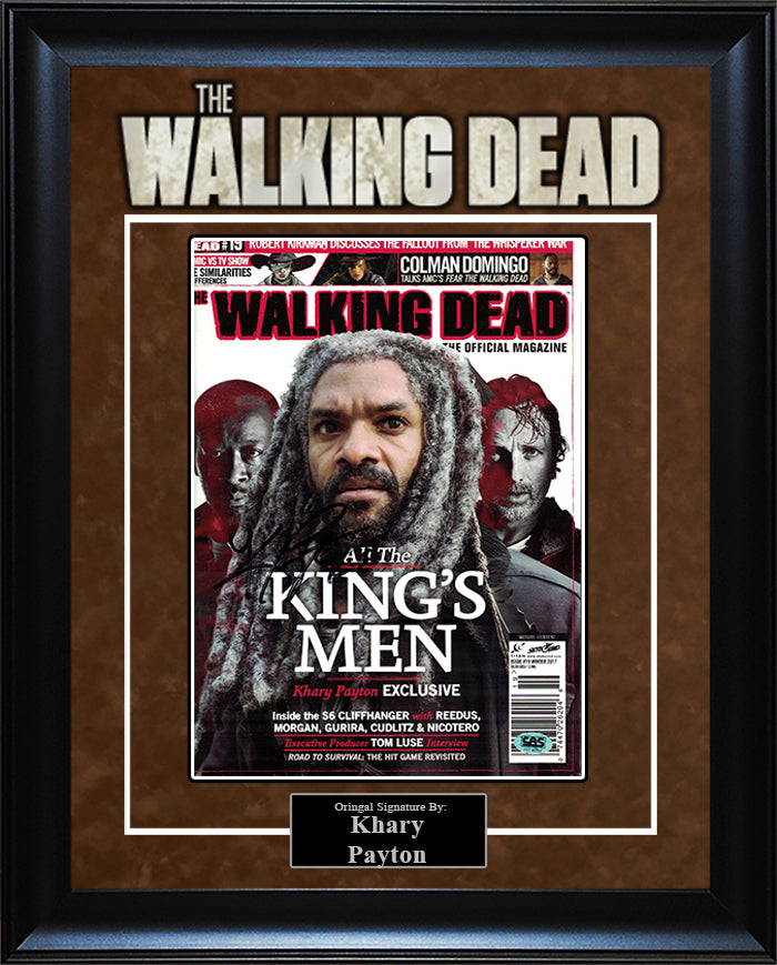 """The Walking Dead"" - Khary Payton Signed Magazine"