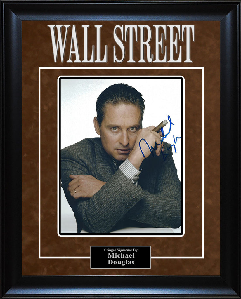 """Wall Street"" - Michael Douglas Signed 8x10 Photo (Option 1)"
