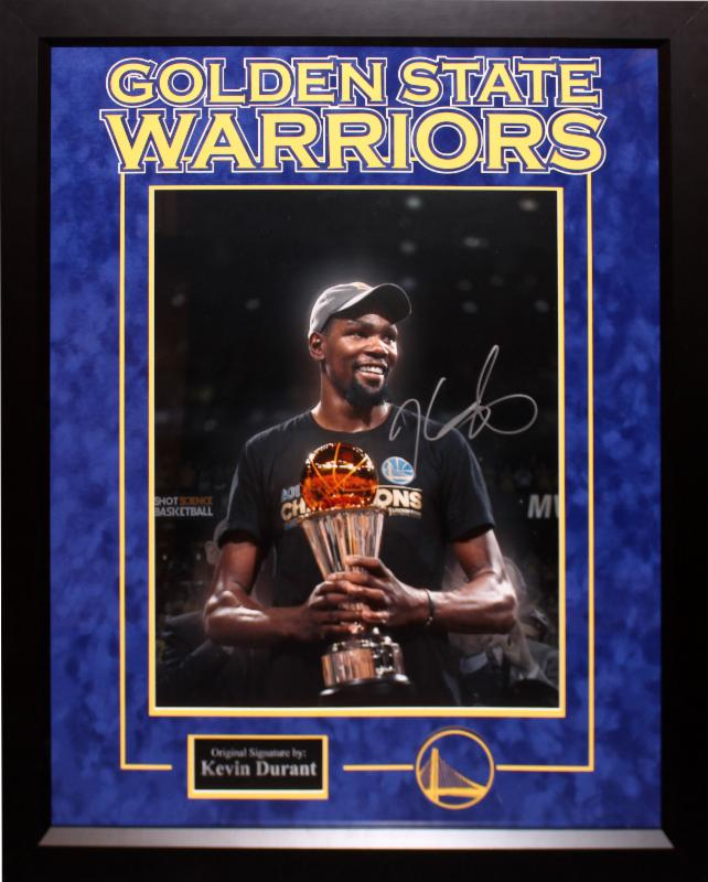 """Golden State Warriors"" Kevin Durant 16x20 with Trophy!"