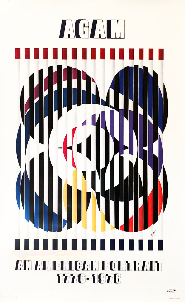 Yaacov Agam - 'Birth of a Flag' SIGNED