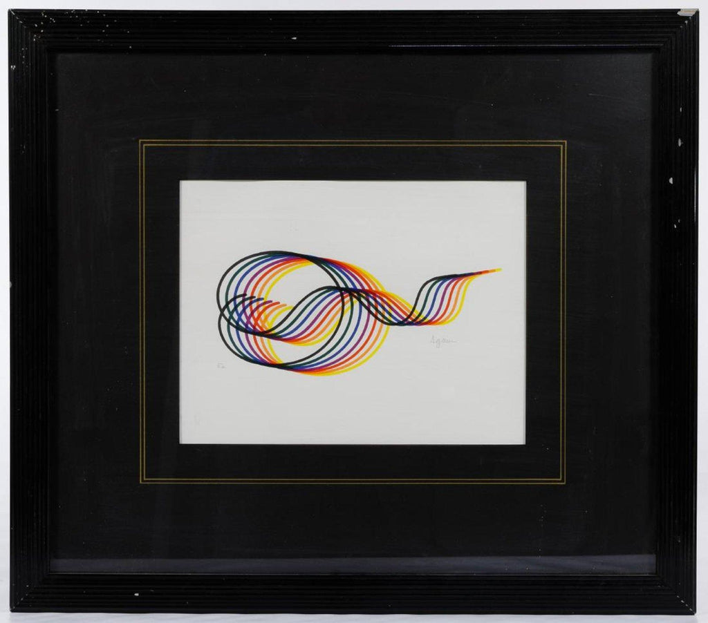 Yaacov Agam - 'Lines and Forms' SIGNED