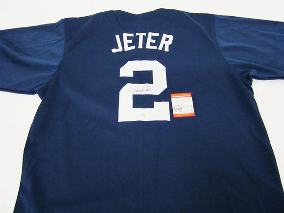 """New York Yankees"" Derek Jeter signed jersey (unf)"
