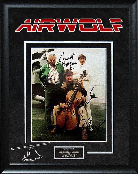 """Air Wolf"" - Cast Signed 8x10 Photo"