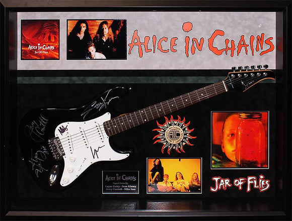 """Alice In Chains"" Signed Silvertone guitar"