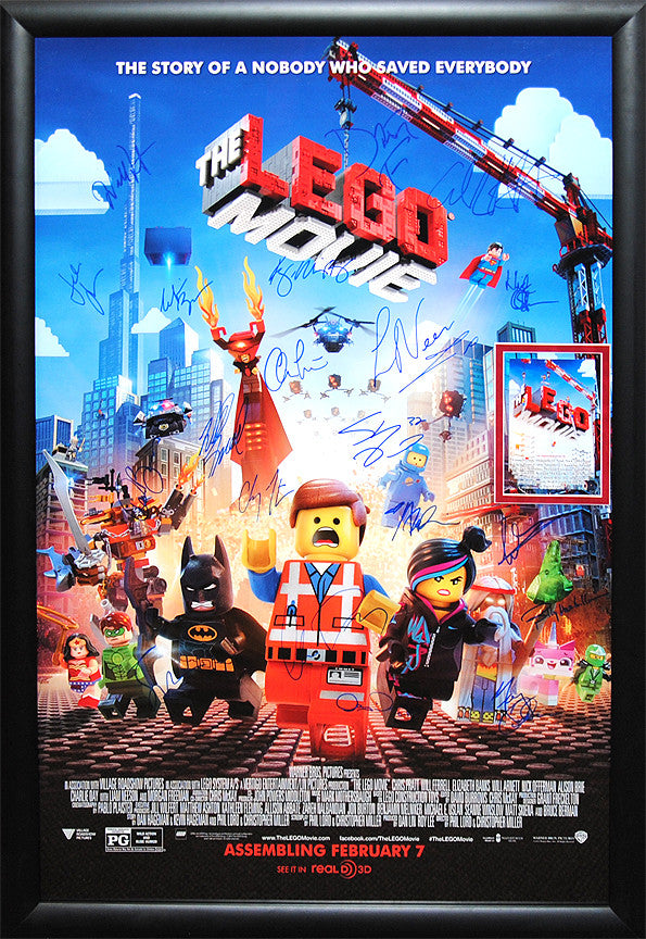 """Lego Movie, The"""" Signed Movie Poster - AntiquitiesCA"""