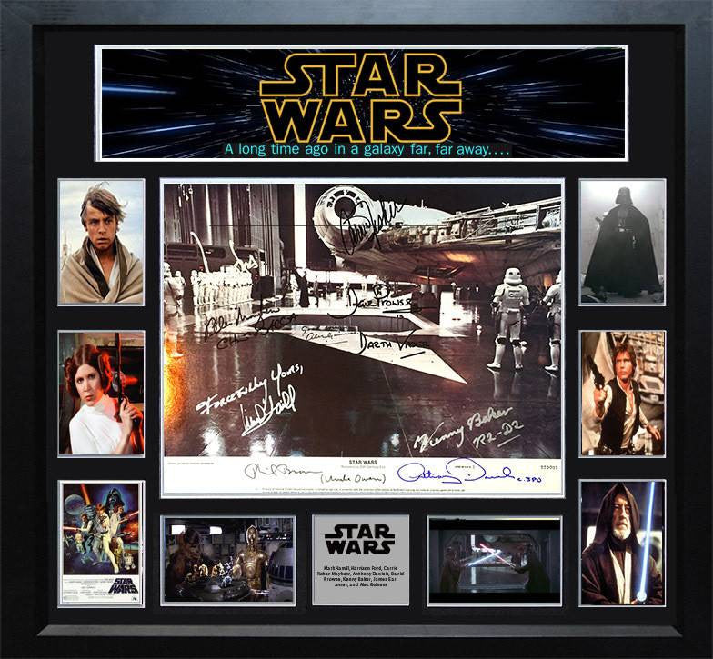Star Wars – Cast Signed Original 11x14 Lobby Card