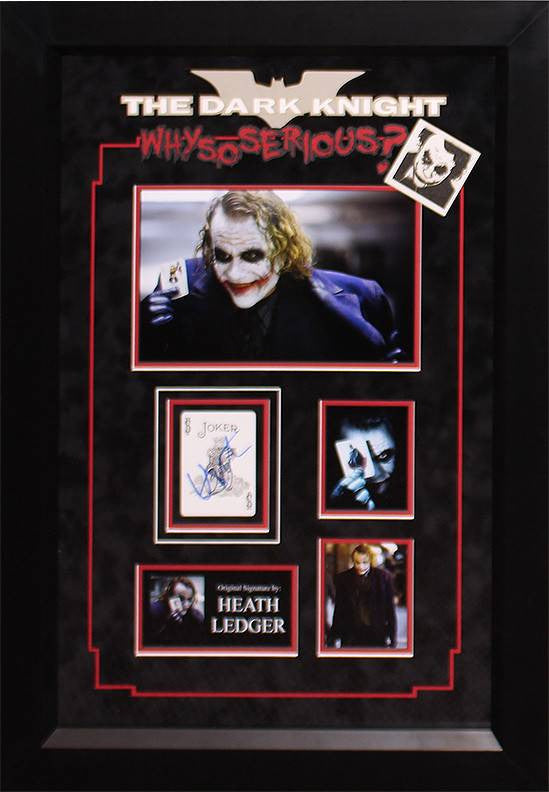 """Batman: Dark Knight"" Signed Joker' card collage"