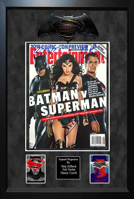 """Batman Vs Superman"" Entertainment Weekly Signed Magazine"