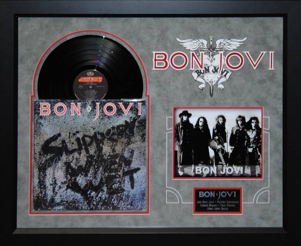 "Bon Jovi Signed ""Slippery When Wet"" LP"