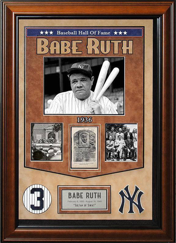 """Yankees"" Babe Ruth HOF plaque card"