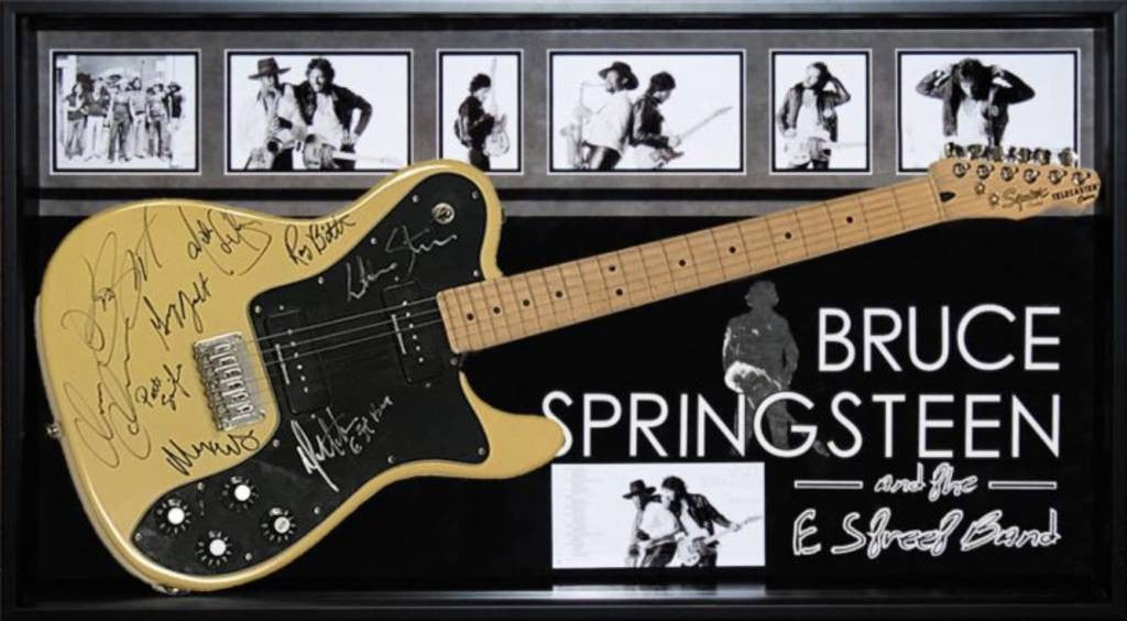 """Springsteen E Street"" cream tele guitar unf"
