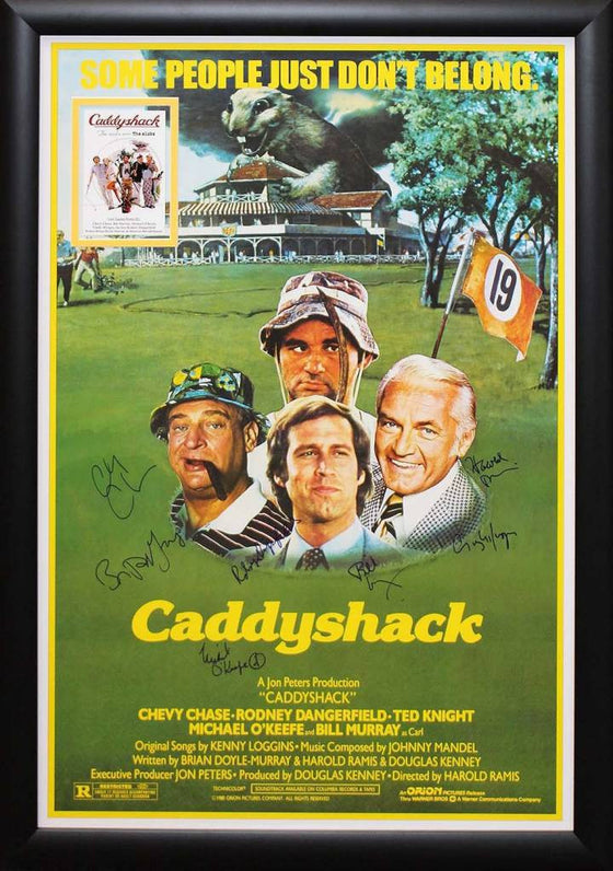 """Caddyshack"" Cast signed poster"