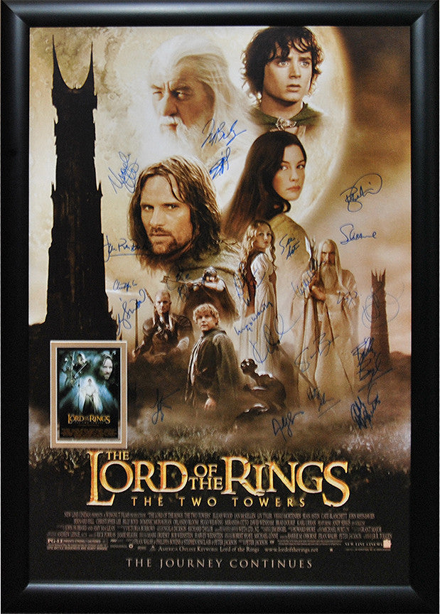 """Lord of the Rings-The Two Towers"" Signed Movie Poster"