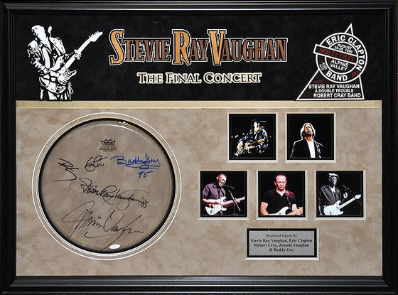 "Stevie Ray Vaughan ""Final Concert"" Signed Drumhead"