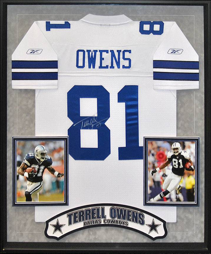 """Dallas Cowboys"" Terrell Owens signed white jersey"