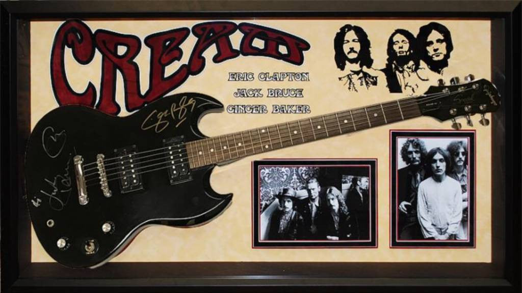 """Cream"" signed black Epiphone"