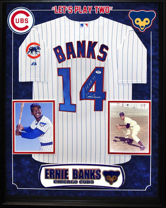"""Chicago Cubs"" Ernie Banks signed jersey"