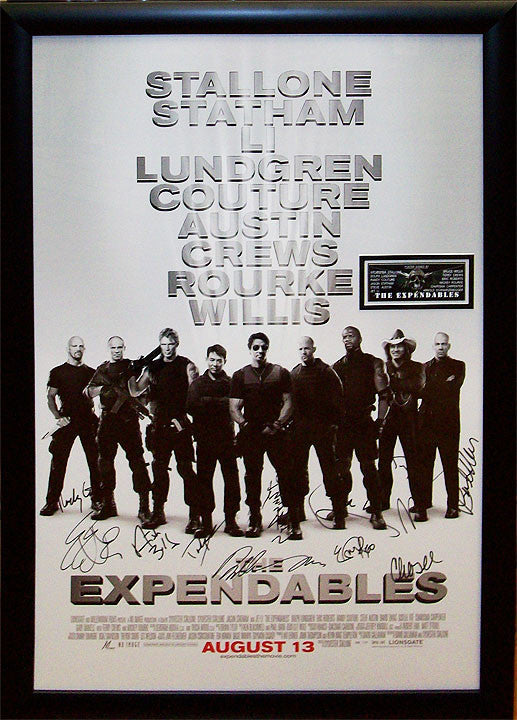 """Expendables"" Signed Movie Poster"