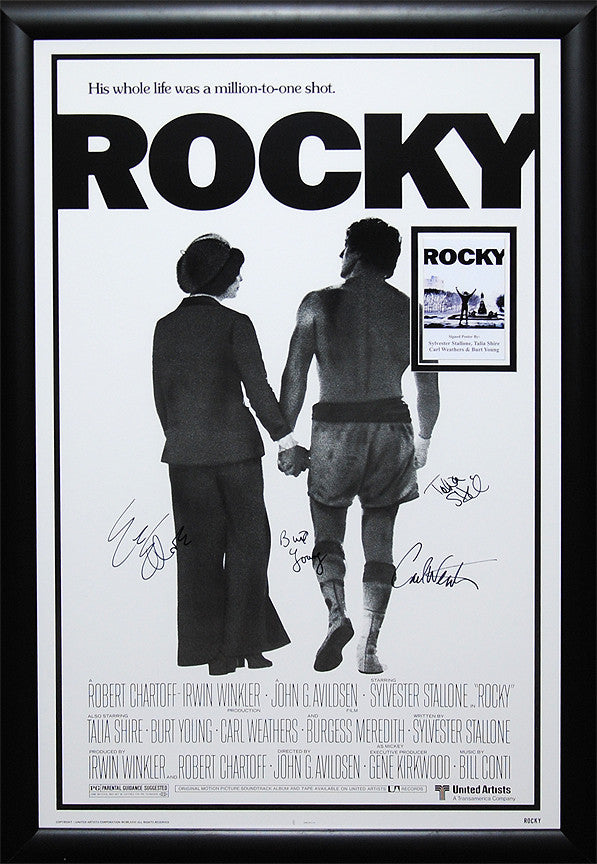 """Rocky"" Signed Movie Poster"