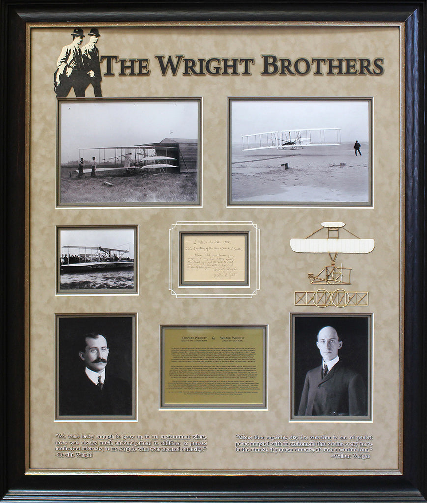 The Wright Brothers - Handwritten Note