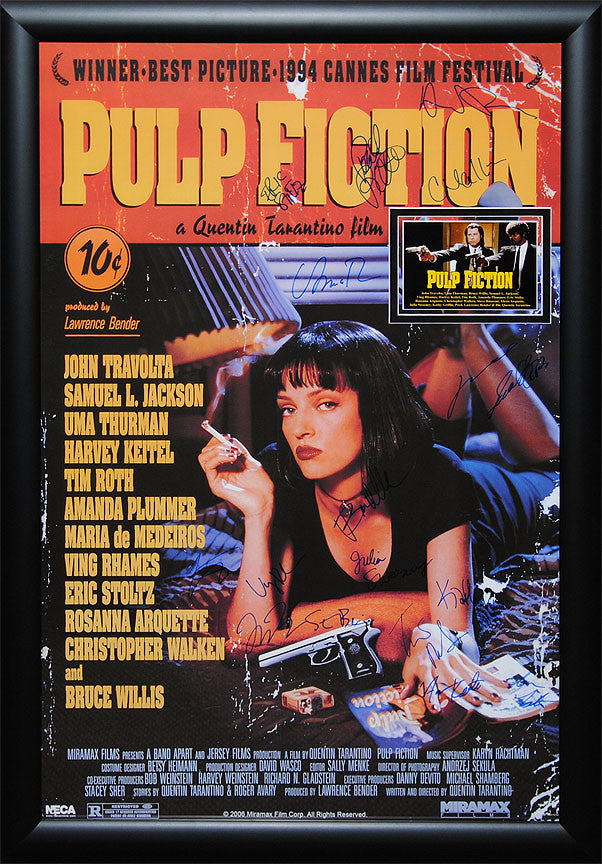 """Pulp Fiction"" Signed Movie Poster"