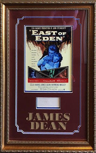"James Dean ""East of Eden"" signature"