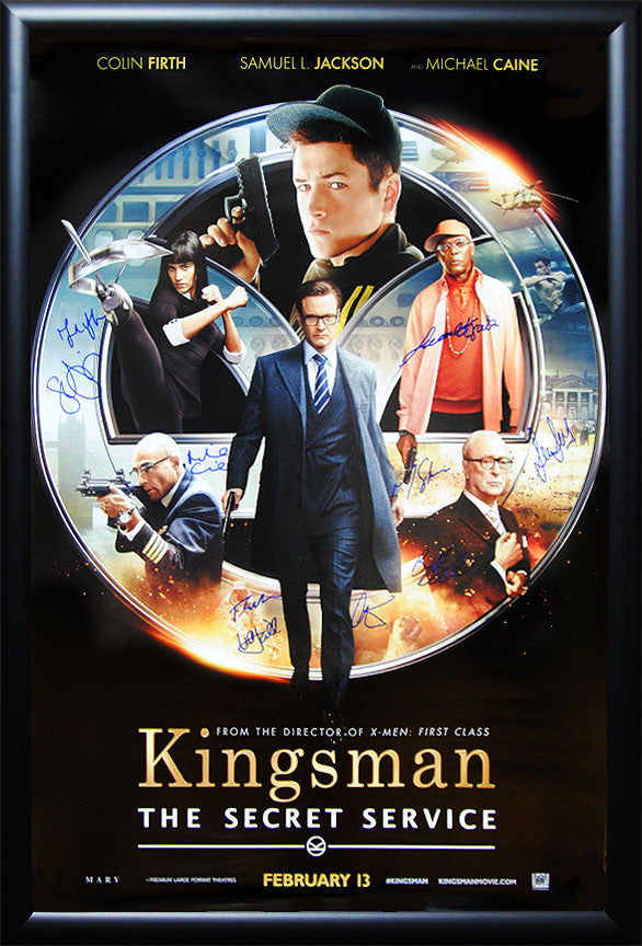 """Kingsman"" Signed Movie Poster"