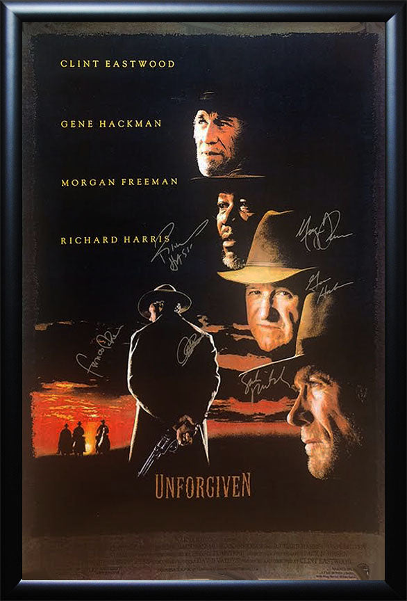 """Unforgiven"" cast signed poster"