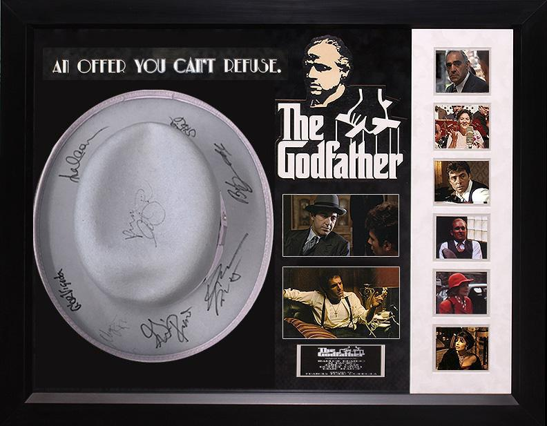 """The Godfather"" Cast signed ""Godfather"" Gangster's Hat!"