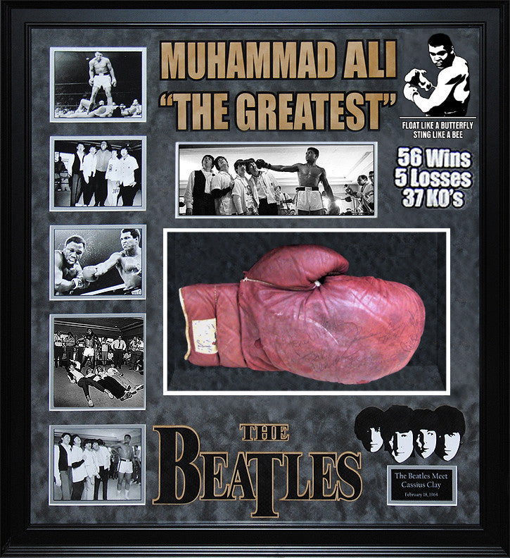 Muhammad Ali meets The Beatles - Signed Boxing Glove