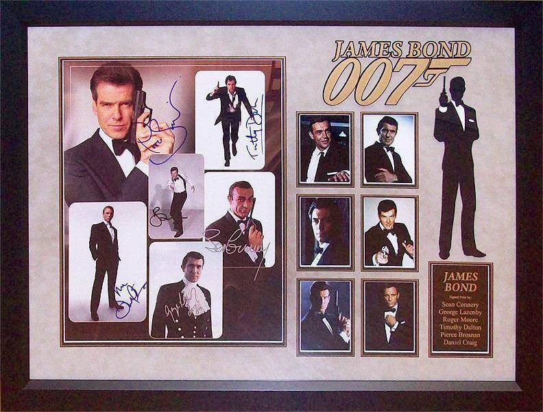"""James Bond"" 6-Bond 8x10 collage"