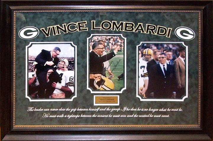 Green Bay Packers - Signed Vince Lombardi Photo