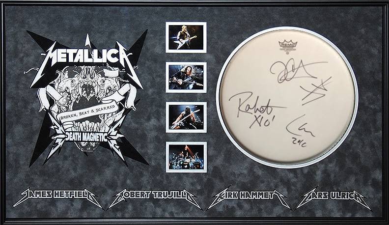 Metallica – Band Signed Death Magnetic Drumhead
