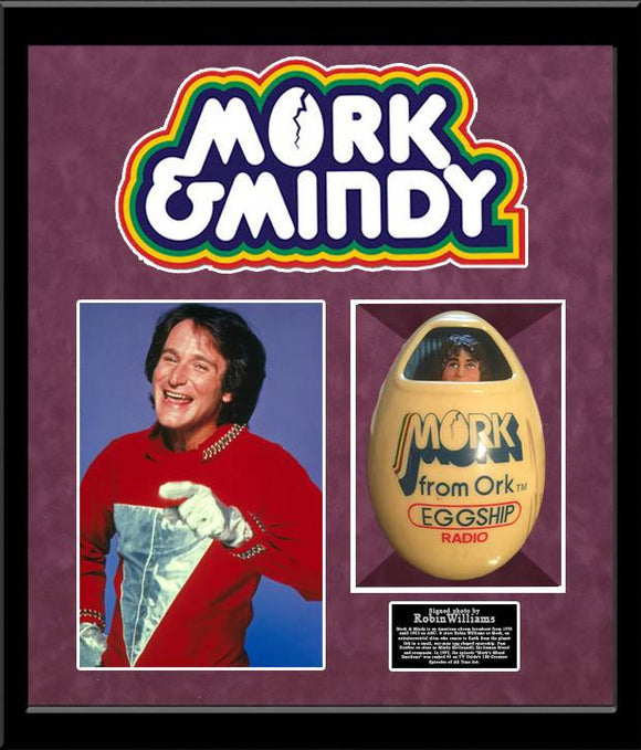 Mork and Mindy - Robin Williams Signed Egg Radio