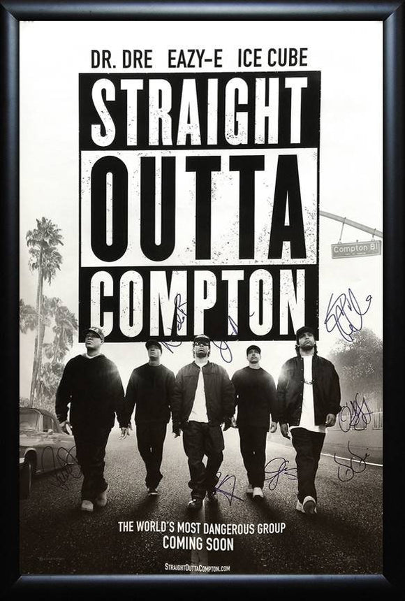 NWA – Straight Outta Compton Cast Signed Poster
