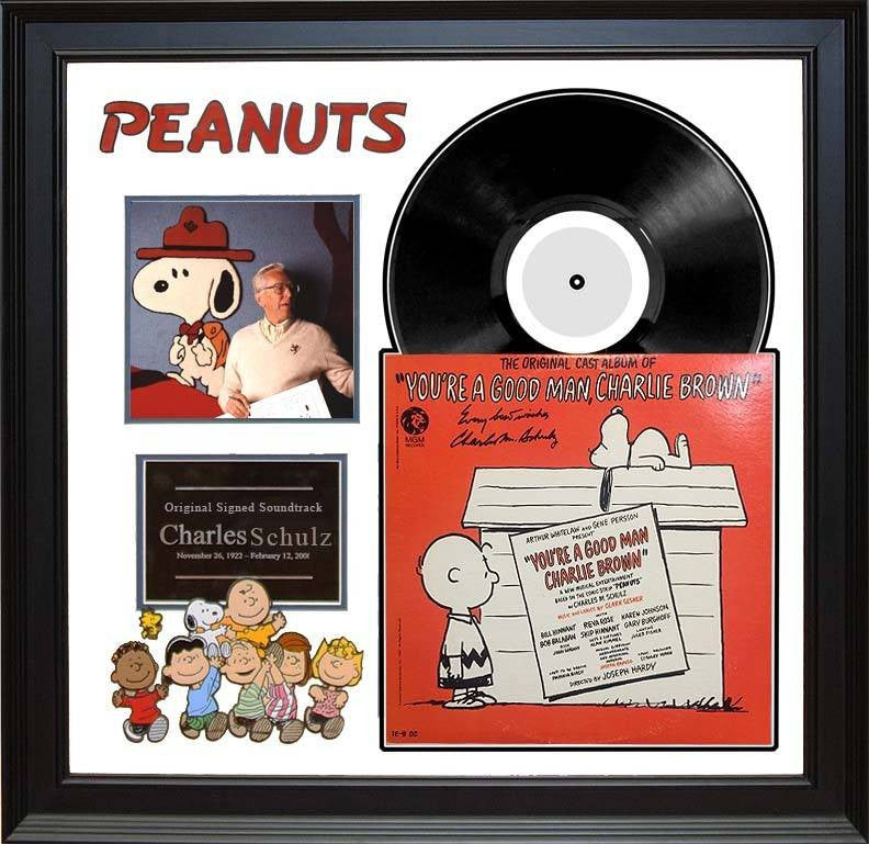 Peanuts – Charles M. Schulz signed soundtrack