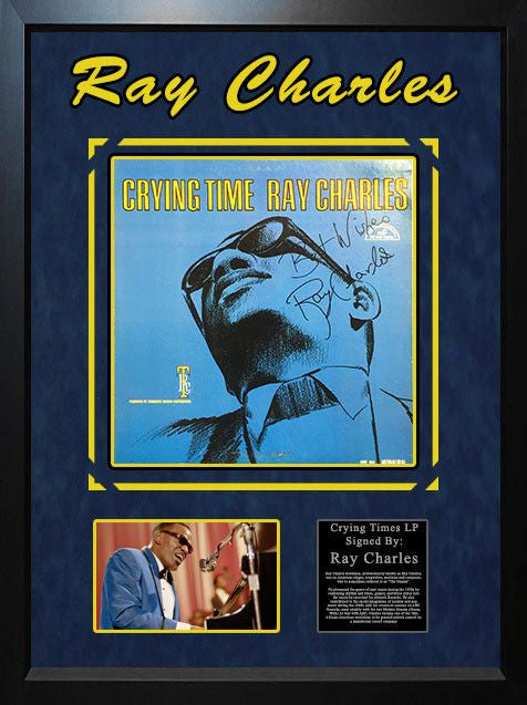 Ray Charles - Signed Crying Time LP